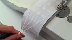 Attaching Pencil Pleat Heading Tape