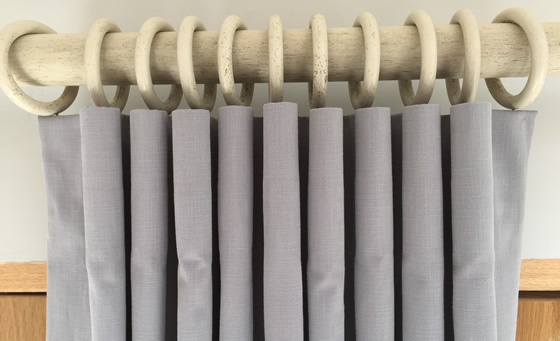 How to make a cartridge pleat curtain tutorial by Sew Helpful