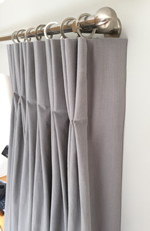 Lined Double Pleat Pinch Pleat Curtain Calculate