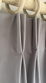 Making a Double pleat interlined curtain