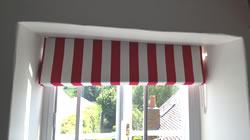 Irregular Topped Roman Blind